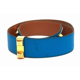 Hermès-Ceinture-Bleu clair