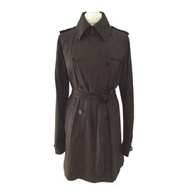 Burberry-trench-Dark brown