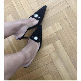 Chanel-Mules-Black
