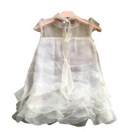 Blumarine-Robes fille-Blanc