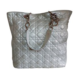 Christian Dior-Hand Bag-Silvery
