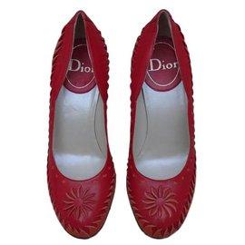 Dior-Escarpins-Rouge,Orange