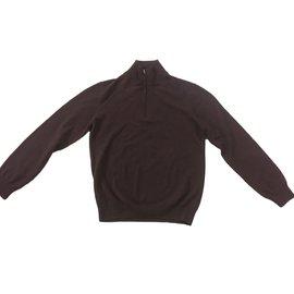 Hermès-Sweaters-Dark brown