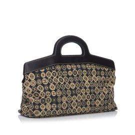 Chanel-CC Logo Travel Bag-Brown,Black,Beige