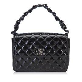 f878e27a834e Chanel-Mini sac à main Matelasse-Noir ...