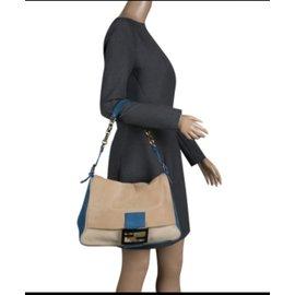 Fendi-Mama Forever bag-Bleu,Beige