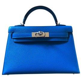 Hermès-Mini Kelly-Bleu