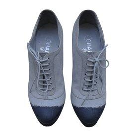 Chanel-Heels-Grey,Cream,Dark blue