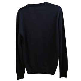 Hermès-Pull cachemire-Bleu Marine