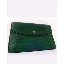 Louis Vuitton-Louis Vuitton Epi montaigne-Vert