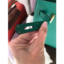 Hermès-Birkin 30 vert vertigo-Vert