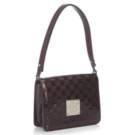 Louis Vuitton-Damier Vernis Cabaret Bag-Violet