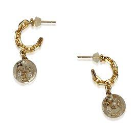 Louis Vuitton-Boucles d'oreilles goutte de résine-Doré
