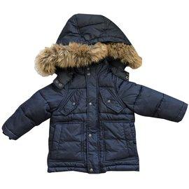 Jacadi-Blousons, manteaux filles-Bleu Marine
