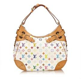 Louis Vuitton-Greta multicolore-Blanc,Multicolore