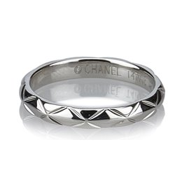 Chanel-Matelasse Ring-Silvery