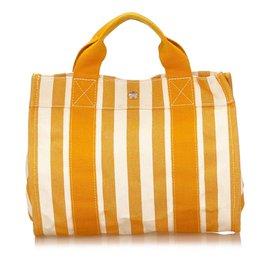Hermès-Cannes PM-Blanc,Orange