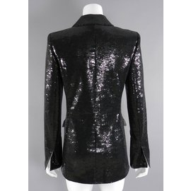 Chanel-Black sequin jacket from 2009 Miami Cruise Collection-Black