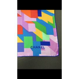 Chanel-Silk scarf-Pink