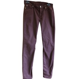 7 For All Mankind-Jeans-Dark red