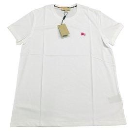 Burberry-T-shirt en jersey de coton-Blanc