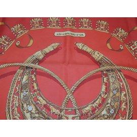 Hermès-Les cavaliers d'or-Rouge