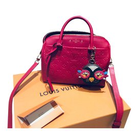 Louis Vuitton-Speedy bandouliere empreinte 25-Rouge