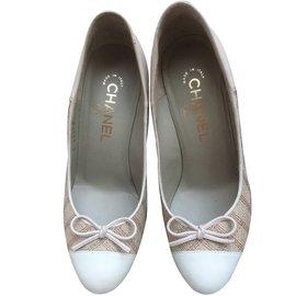 Chanel-Escarpins-Beige