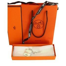 Hermès-Bijoux de sac-Argenté