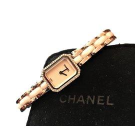 Chanel-Premiere Mini White ceramic and diamond watch-White