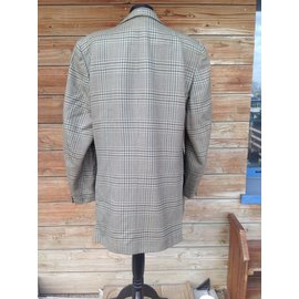 Hermès-Blazers Jackets-Brown,Green