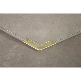 Hermès-Clutch Hermes-Beige