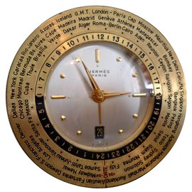 Hermès-Horloge-Doré