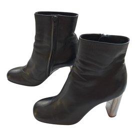 Céline-Ankle boots-Black
