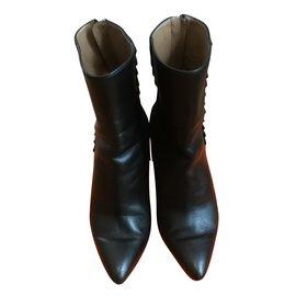 Hermès-Hermès bottines-Noir