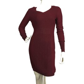 Vera Wang-Dress-Dark red