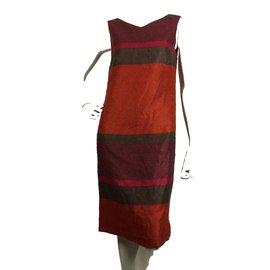 Gianfranco Ferré-Dress-Orange,Purple,Khaki