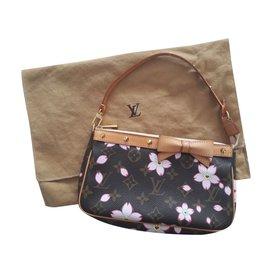 Louis Vuitton-Pochette Louis Vuitton Cherry Blossom-Marron