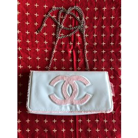 Chanel-beauty pochette clutch-White