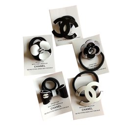 Chanel-Chanel vip gift hair ties, Set of 5-White