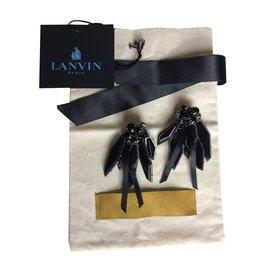 Lanvin-Boucles d'oreilles-Noir