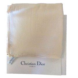 Christian Dior-Foulards-Blanc cassé