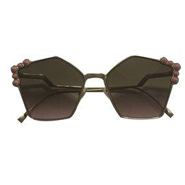 Fendi-oversize sunglasses-Rose