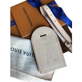 Louis Vuitton-Etiquette de bagage-Beige