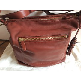 Coach-Handbags-Cognac