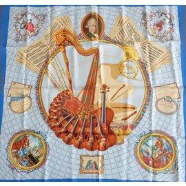 Hermès-LOT 5 FOULARDS-Multicolore