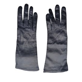 Hermès-Gloves-Navy blue