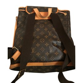Louis Vuitton-Sacs à dos Bosphore monogram-Marron,Doré