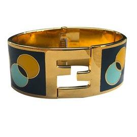 Fendi-Bracelet-Bleu,Doré,Jaune