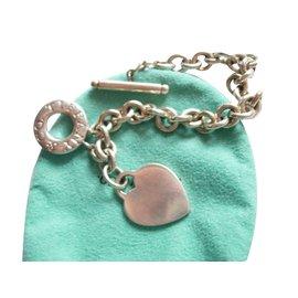 Tiffany & Co-Heart Tag toggle en argent massif 925-Argenté